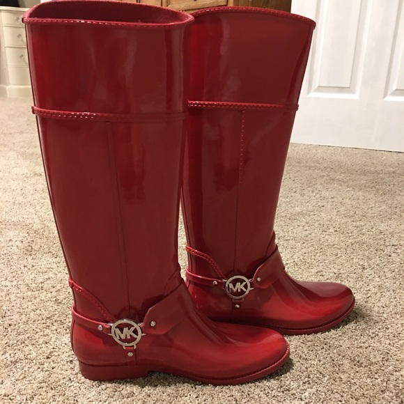 Michael Kors Red Rain Boots | Poshmark